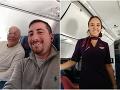 Otec strávil Vianoce so svojou dcérou, letuškou, v lietadle.