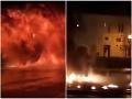 VIDEO Obrovský výbuch počas Silvestra: Plamene zachvátili námestie, explózia ako v akčnom filme