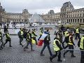 Hnutie žltých viest slabne: Vo Francúzsku sa na protestoch zúčastnilo menej ako štyritisíc ľudí