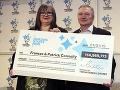 MEGAvýhra v známej lotérii: Padol obrovský jackpot, manželia na FOTO získali 127 miliónov!