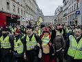 Protesty žltých viest pokračujú v novom roku: V centre Paríža zasahovala polícia slzným plynom