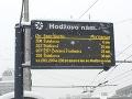 Bratislavská MHD hlási problémy.