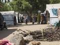 Tábor pre vysídlených v meste Barma