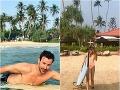 V lete obaja napríklad na dovolenke aj surfujú. Tieto zábery sú z ich aktuálnej dovolenky na Srí Lanke