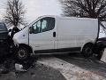 Hromadná zrážka v okrese Michalovce: FOTO Nehoda štyroch vozidiel, dvaja zranení
