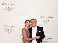 Lančarič Pavol, hostiteľ Plesu v opere, predseda predstavenstva a generálny riaditeľ Orange Slovensko s manželkou Silviou Lančaričovou