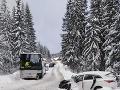 Za Oravskou Polhorou havaroval autobus plný detí.