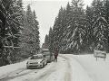 Sneženie a poľadovica komplikujú dopravnú situáciu v Žilinskom kraji.