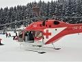 Zranenie lyžiara v Západných Tatrách: Po páde mu na pomoc prišiel vrtuľník