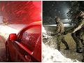 FOTOGALÉRIA Snehové peklo na severe: Pomáhajú aj vojaci, mimoriadna situácia v desiatkach obcí