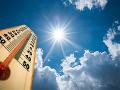 V pondelok sa teplota blížila k hodnote letného dňa, dosiahnutá ale nebola