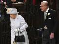 Britská kráľovná Alžbeta II. a britský princ Philip
