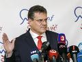 Šefčovič ide kandidovať za prezidenta ako nezávislý: Jeho kandidatúru podporili len poslanci Smeru
