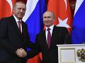 Turecký prezident Recep Tayyip Erdogan a ruský prezident Vladimir Putin.