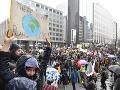 Desaťtisíce demonštrantov v uliciach Bruselu: Žiadali ráznejšie opatrenia na ochranu klímy