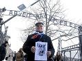 Pozostalý v bývalom nacistickom nemeckom koncentračnom a vyhladzovacom tábore Osvienčim