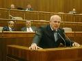 Vystúpenie poslanca za KDH Františka Mikloška 11. mája 2005.
