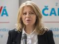 Zuzana Čaputová počas tlačovej konferencie 29. mája 2018.