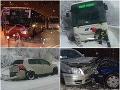 FOTOGALÉRIA Autá, autobusy a kamióny končili mimo ciest, snežné peklo si vypýtalo svoju daň!