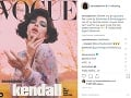 Kendall Jenner zdobí titulku magazínu Vogue Italia.