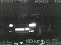 Vodičovi bola nameraná rýchlosť 183 km/h.