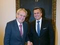 Andrej Danko navštívil českého prezidenta: Sedieť s Milošom Zemanom je zážitok na celý život