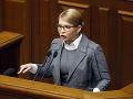 Bývalá ukrajinská premiérka Julija Tymošenková, ktorá sa uchádza o prezidentský post v marcových voľbách, reční na pôde ukrajinského parlamentu.