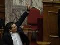 Alexis Tsiprasv gréckom parlamente