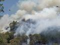 Lesný požiar na novozélandskom