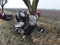 Nehoda pri Želiezovciach si vyžiadala dva životy.
