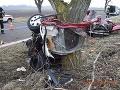 Silný náraz, auto na šrot: Štefan (†33) a Zoltán (†34) boli na mieste mŕtvi, mrazivé FOTO tragédie