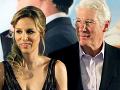 Herec Richard Gere a jeho žena Alejandra Silva.