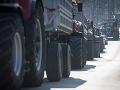 Farmári protestujú za zlepšenie podmienok v poľnohospodárstve