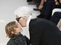Karl Lagerfeld so svojim krstným synom.