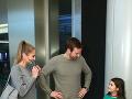 Marek Fašiang s priateľkou Terezou a seriálovou dcérou Laurou vyzerali takmer ako skutočná rodina.