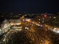 Minuloročné protesty organizované pod záštitou Za slušné Slovensko