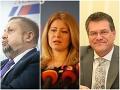 EXKLUZÍVNY prieskum: Šefčovič a Čaputová majú stále základne, Harabina podporujú voliči Smeru