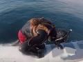 Potápač sa vynoril z mora, ale aj s potvorou na chrbte! VIDEO boja: Kto z koho?
