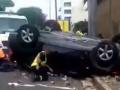 VIDEO Žena chcela vyparkovať z viacposchodového parkoviska, skončilo to katastrofou