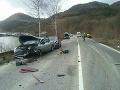 PRÁVE TERAZ Pri Považskej Bystrici sa zrazili štyri autá: FOTO Úsek je obojsmerne neprejazdný