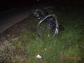 FOTO Fatálna zrážka v okrese Piešťany: Neosvetleného cyklistu zrazilo auto, zomrel na mieste