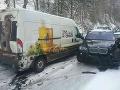 Hromadná nehoda si nevyžiadala zranenia.