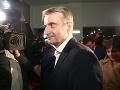 Robert Mistrík gratuluje Čaputovej,