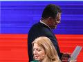 Zuzana Čaputová a Maroš Šefčovič pred diskusiou