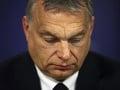 Maďarský premiér Viktor Orbán prichádza na tlačovú konferenciu po predsedníctve Európskej ľudovej strany