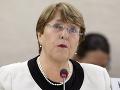 Čína obvinila komisárku OSN Bacheletovú: Údajne podnecovala protesty v Hongkongu