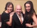 Michal David v spoločnosti svojich milovaných žien - manželky a dcéry.