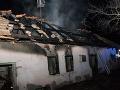 FOTO Nočný požiar domu v Hornej Seči: Hrozný nález hasičov, v ruinách našli obhorené telo
