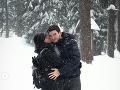 Ani sneh nezabráni Ivane a Lukášovi v romantickom zábere.