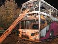 Takto vyzeral zhorený autobus,
